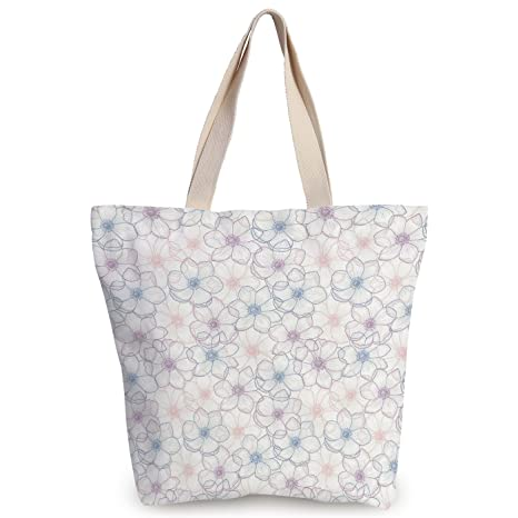 Amazon.com  iPrint Stylish Canvas Tote Bag
