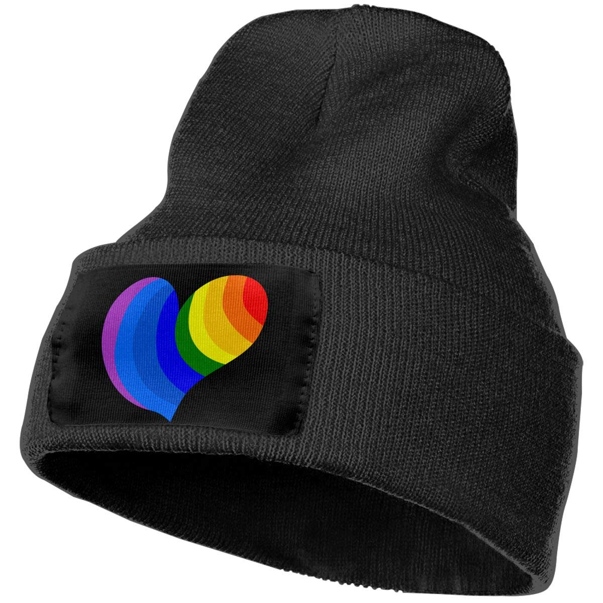 COLLJL-8 Men//Women Gay Pride Outdoor Stretch Knit Beanies Hat Soft Winter Knit Caps