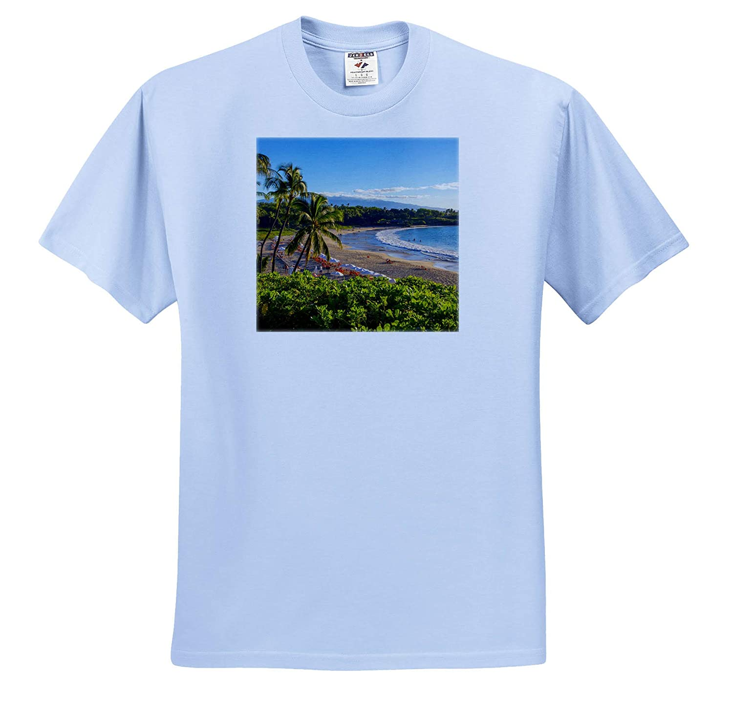 Hawaii ts/_314794 Island of Hawaii Adult T-Shirt XL Kohala Coast 3dRose Danita Delimont Kaunaoa Beach