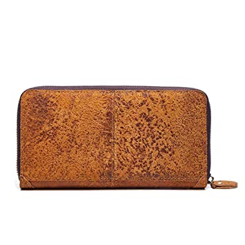 Aihifly Cartera de Cuero Vintage Cartera curtida Vegetal Billetera Larga con Embrague: Amazon.es: Hogar