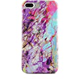 Purple Red Blue Marble iPhone 7 PLUS Case Cover by Velvet Caviar Cute Cool Mobile Cell Phone Cases Covers (Electric Rainbow Marble)