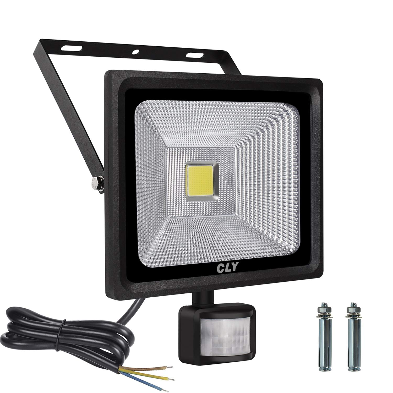 LTE 30W LED Motion Sensor Floodlight Outdoor Super Bright 2400 Lumens Security Flood Lights Waterproof IP65 Cool White 6000K
