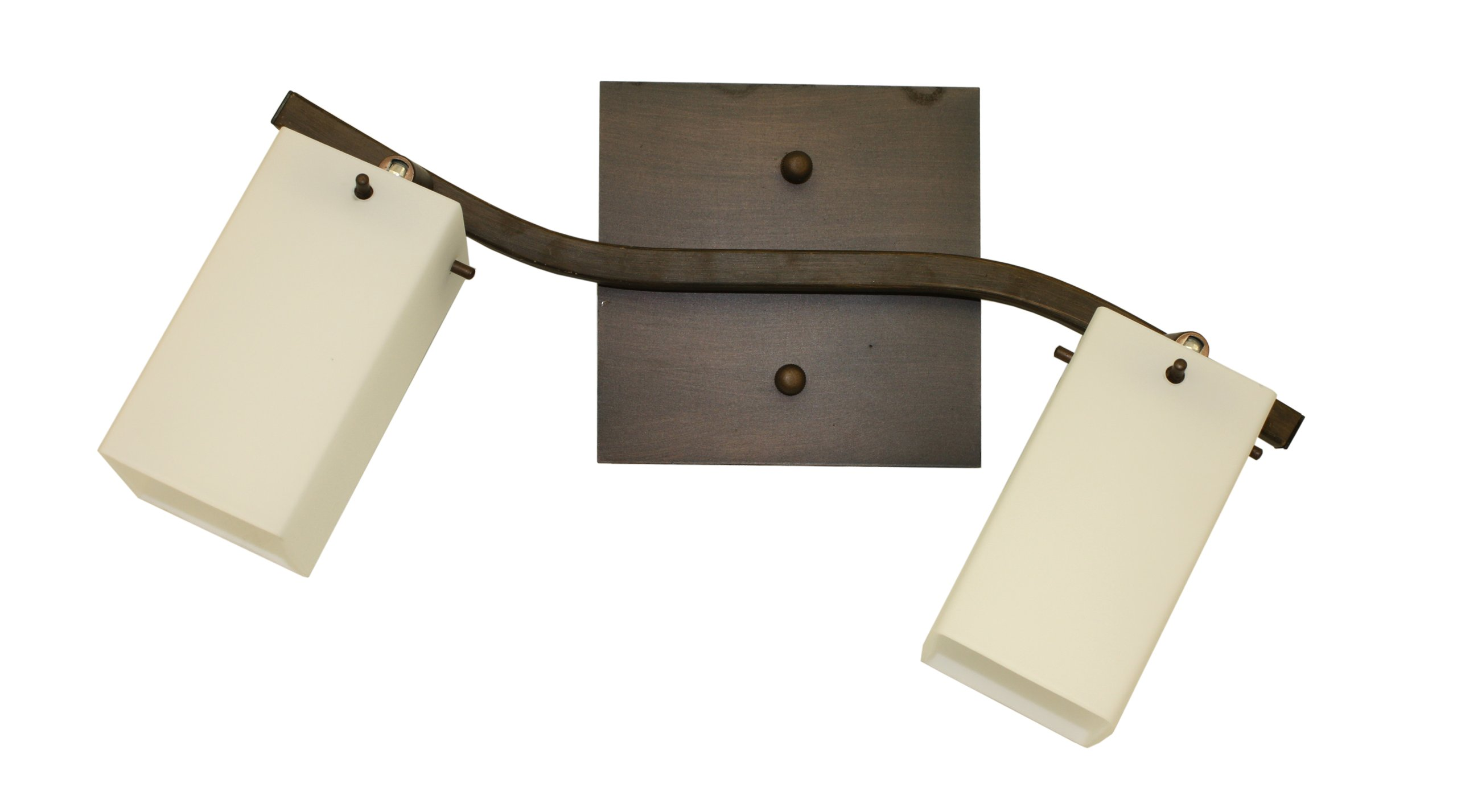 Whitfield ESTP400-2ORB Ava 18-Inch Energy Star Two-Light Track, Oil Rubbed Bronze with Dove White Glass