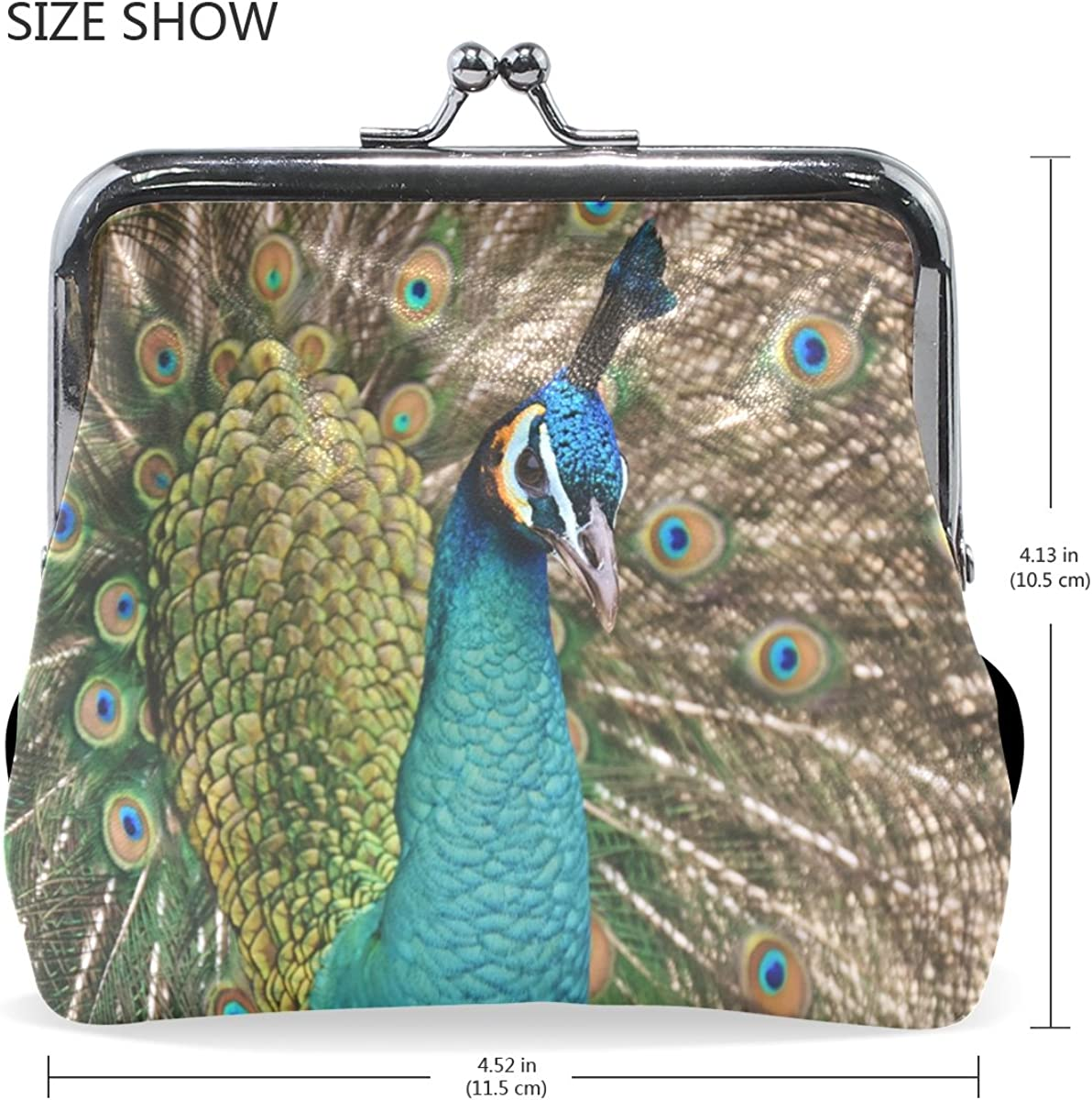 Coin Purse Colorful Feather Wallet Buckle Clutch Handbag For Women Girls Gift