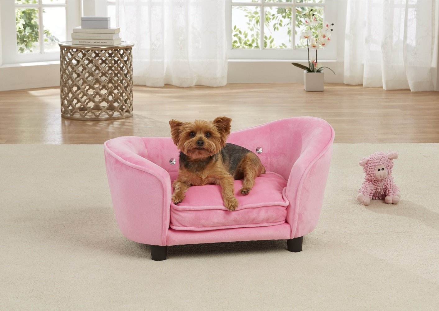 Enchanted Home Pet Ultra Plush Snuggle Bed in Light Pink by Enchanted Home Pet