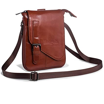 02c9a1fd31 Hengying Leather Man Bags Small Cross Body Messenger Belt Bag Waist Pouch  Purse for Moible Phone