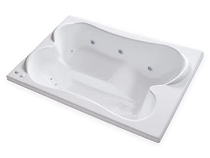 Carver Tubs   TPL7248 Rectangle Drop In   12 Jet, Self Draining Whirlpool  Bathtub With
