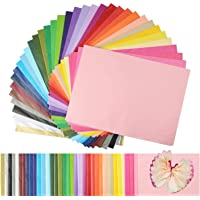 """Superise 360 Sheets 36 Multicolor Tissue Paper Bulk Gift Wrapping Tissue Paper Decorative Art Rainbow Tissue Paper 12"""" x…"""
