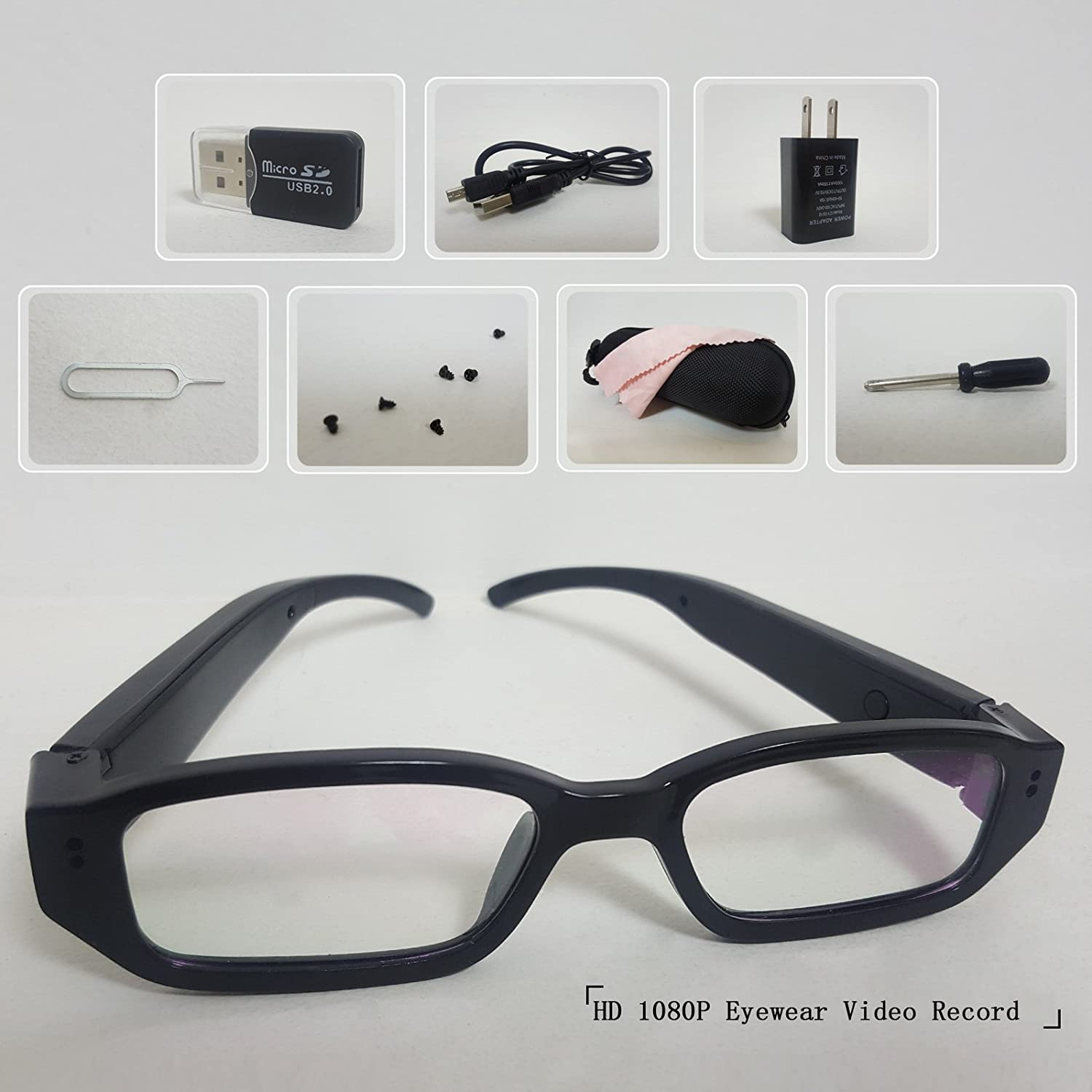 5945400204 LDPmade Spy Camera Glasses Hidden Full HD 1080P 8G Eyeglasses Camcorder  with Video Taking of Spectacles Inspection for Halloween  Amazon.ca  Camera    Photo