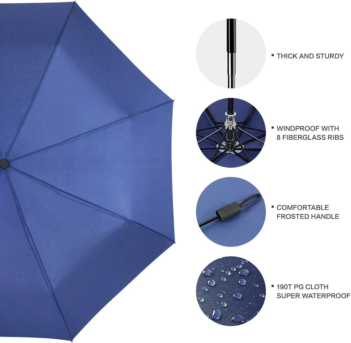 NA Create An Abstract Painting Automatic Tri-fold Umbrella Outer Print One Size