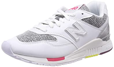 the best attitude 5e23a bbc59 New Balance 840, Baskets Femme, Blanc (White Classic Gold AA),