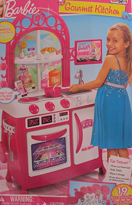 Barbie Child Size Gourmet Kitchen Playset W Sounds 19 Accessories Toys R Us Exclusive 2011