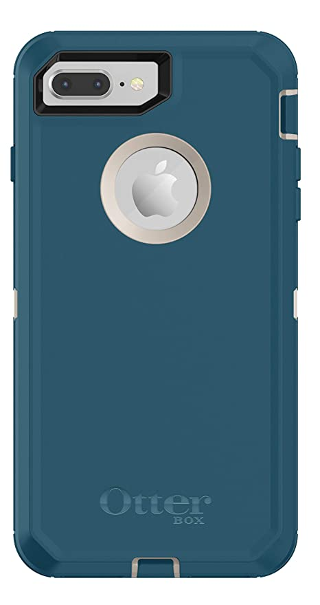 iPhone 8 Plus Case - OtterBox Defender Series Case for iPhone 8 Plus & iPhone 7 Plus (Case Only - Holster Not Included) Pale Beige/Corsair