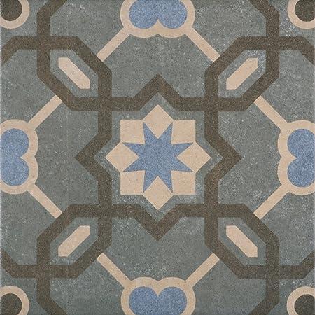 Patterned Porcelain Floor Tile - Retro 13 - 1 Square Metre of 16 ...