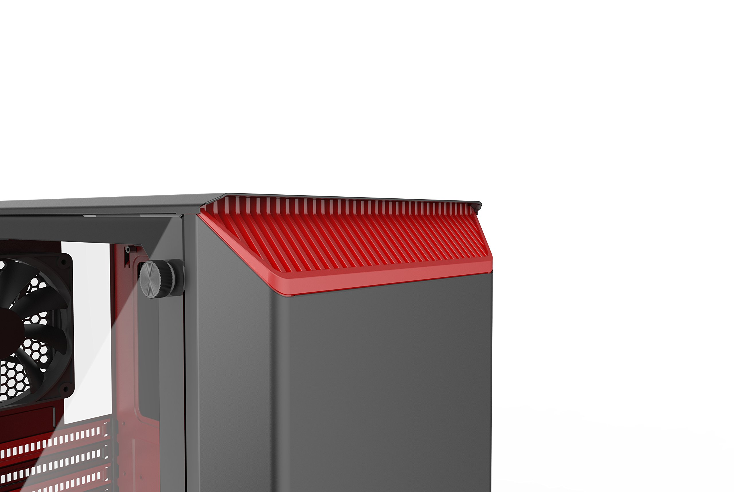 Phanteks PH-EC300PTG_BR Eclipse P300 Tempered Glass Steel ATX Mid Tower Case Black/Red by Phanteks (Image #10)