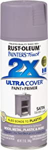 Rust-Oleum 329201 Painter's Touch 2X Spray Paint, Silver Lilac
