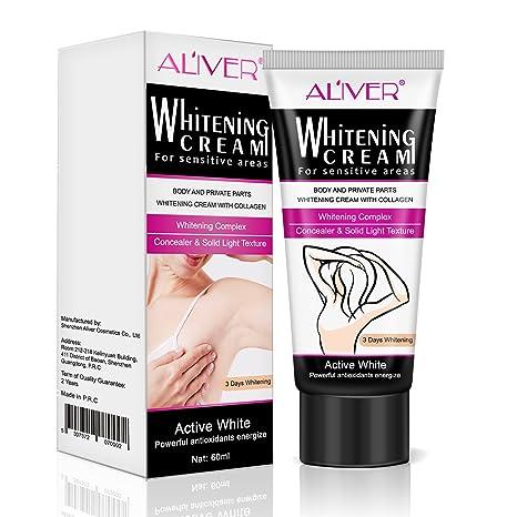 Aliver® Crema blanqueadora de color crema para la piel de las partes íntimas de la