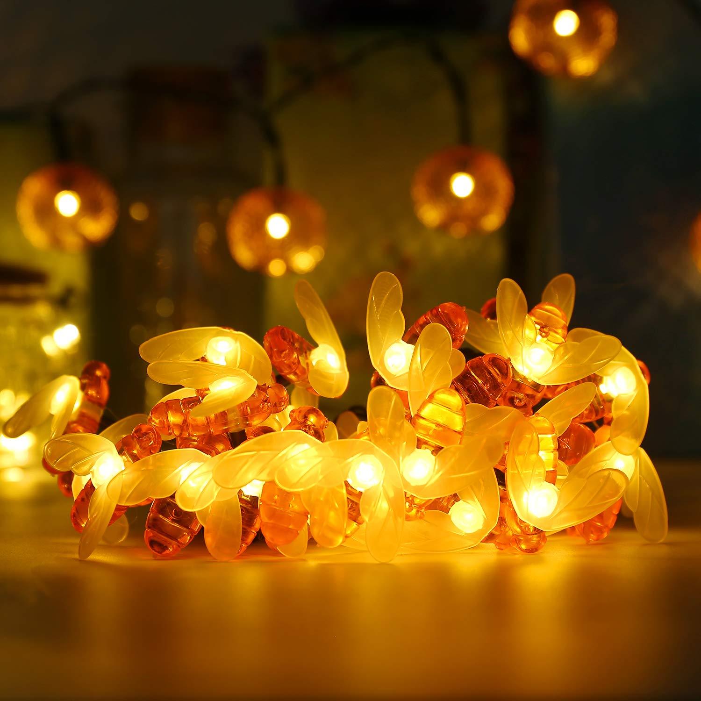 Lampe Solaire Abeille ALED LIGHT 6,4 m/ètres /Étanche 30 LED Guirlande Lumineuse Solaire LED pour Jardin Terrasse Cour Chemin Pelouse Arbre D/écoration Ext/érieur