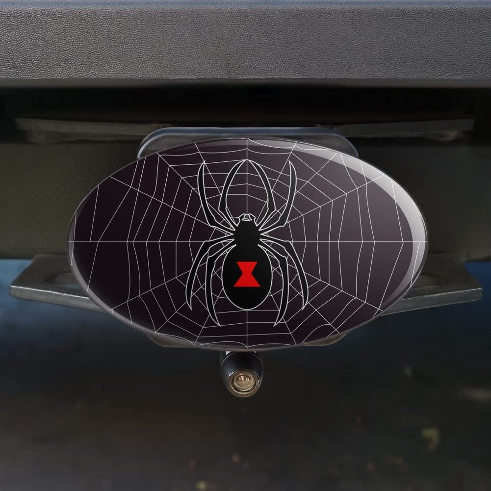Graphics and More Black Widow Spider on Web Oval Tow Hitch Cover Trailer Plug Insert 1 1//4 inch 1.25