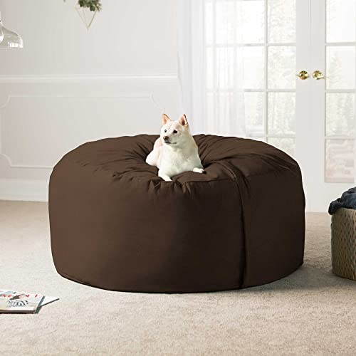 Jaxx 5 Foot Saxx - Big Bean Bag Chair for Adults, Chocolate