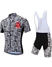 Men s Short Sleeves Cycling Jersey Set Bike Jersey Suit Cycling Shirt Bib  Shorts with 3D Gel adc53f86d