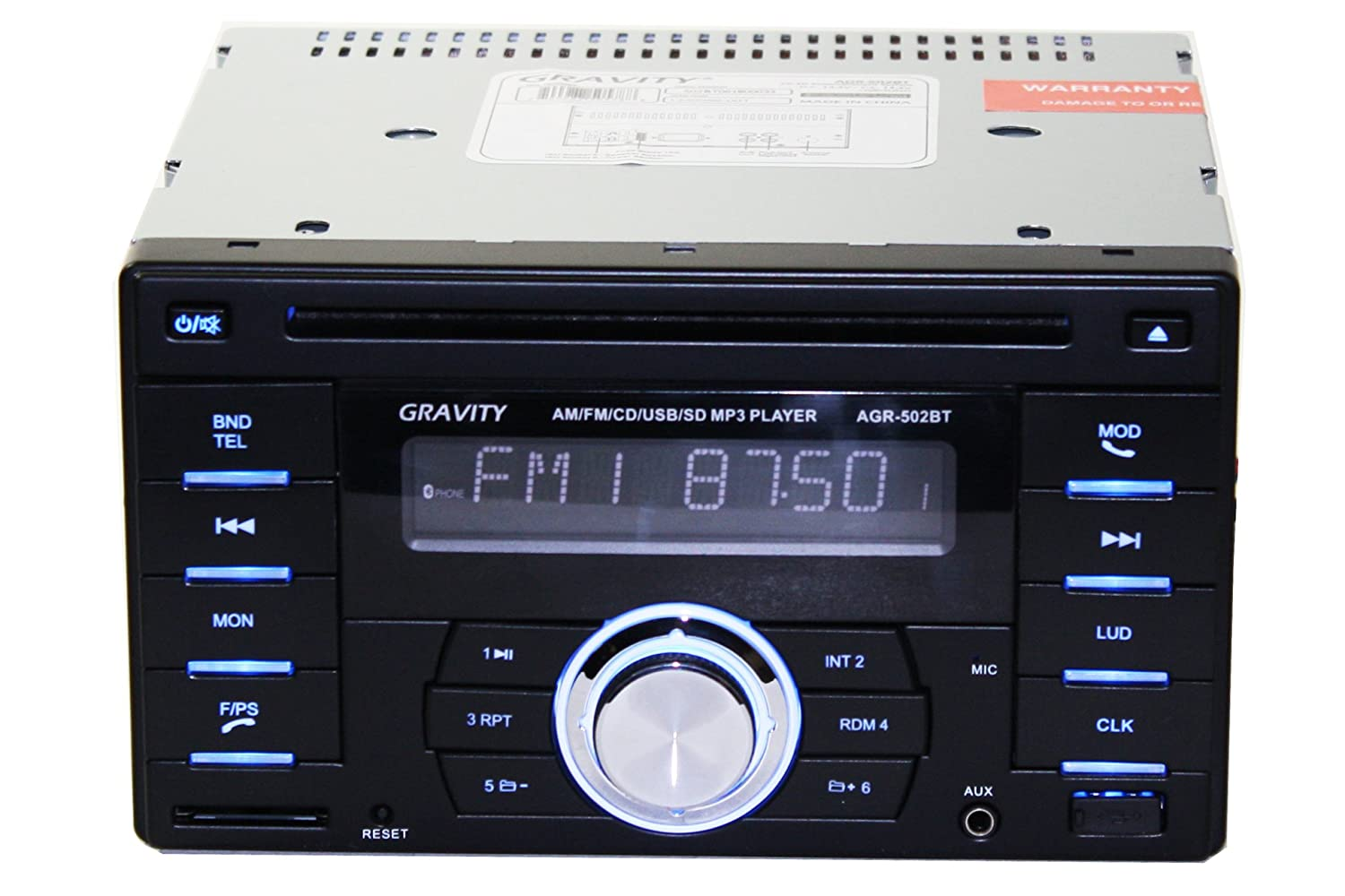 Gravity AGR-502BT Double Din in-Dash Car Entertainment System