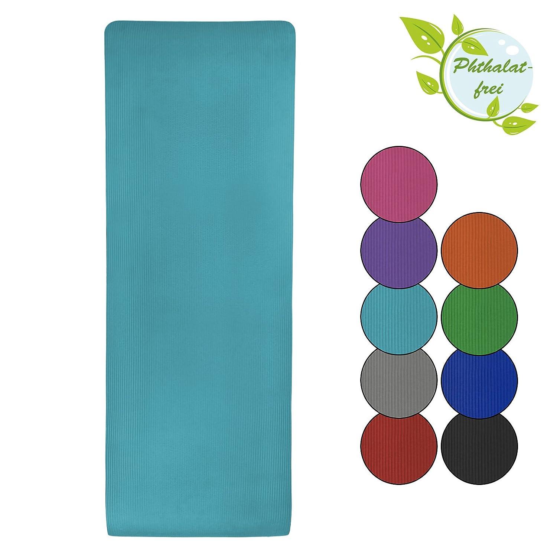 BB Sport Esterilla colchoneta –de yoga – Yjuna 180 cm x 60 cm x 1.5 cm para fitness deportiva pilates gimnasia ejercicio