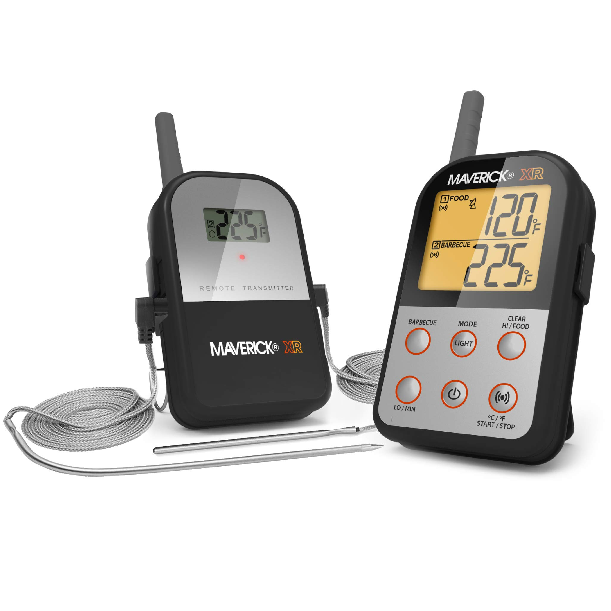 Maverick XR-30 Wireless Extended Range Digital Instant Read Cooking Kitchen Grilling Smoker BBQ Probe Meat Thermometer, Black by Maverick