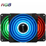 Jonsbo FR-531 120mm PC Case Fan, High Airflow CPU Coolers and Radiators, Colorful 256 RGB LED Light, 10 LED lights in Center, Speed Controllable, Quiet Hydraulic Bearing, Long Life for DIY MOD PC