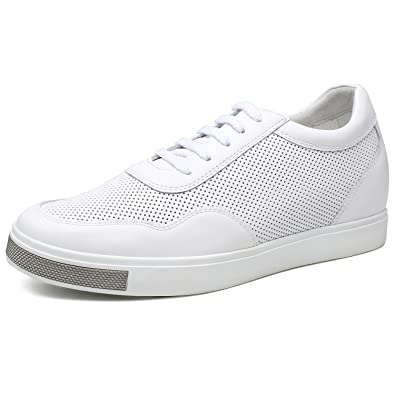 5082f92b17 CHAMARIPA Men's Invisible Height Increasing Elevator Shoes-Breathable Mesh  Leather Sneakers-2.36 Inches Taller