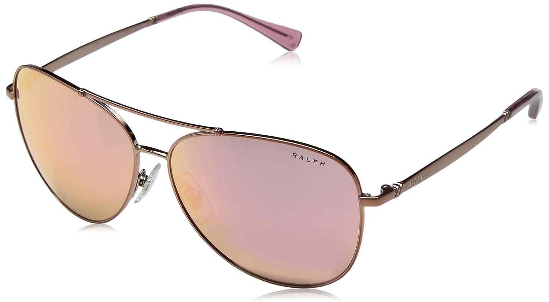 5ce86eba3c922 Amazon.com  Ralph by Ralph Lauren Women s 0ra4125 Non-Polarized Iridium Aviator  Sunglasses ROSE GOLD 59.0 mm  Clothing