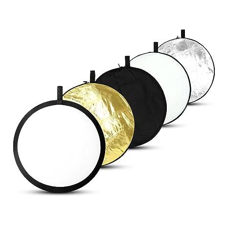 ESDDI 81cm 5 en 1 Reflectores Fotografia Professional Reflector de luz Plegable de Discos múltiples,