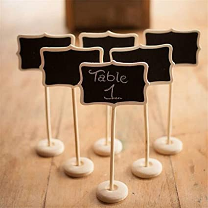 amazon com lkxharleya 6pcs mini wooden chalkboard signs with stand