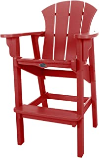 product image for Nags Head Hammocks Sunrise Bar Dining Chair, Red