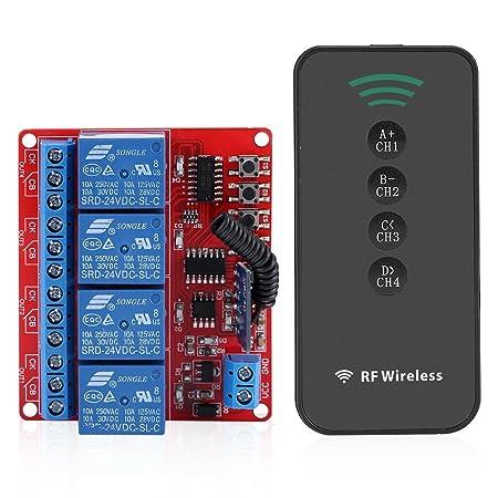 4ch wireless remote control switch learning intelligent module relay rh amazon co uk