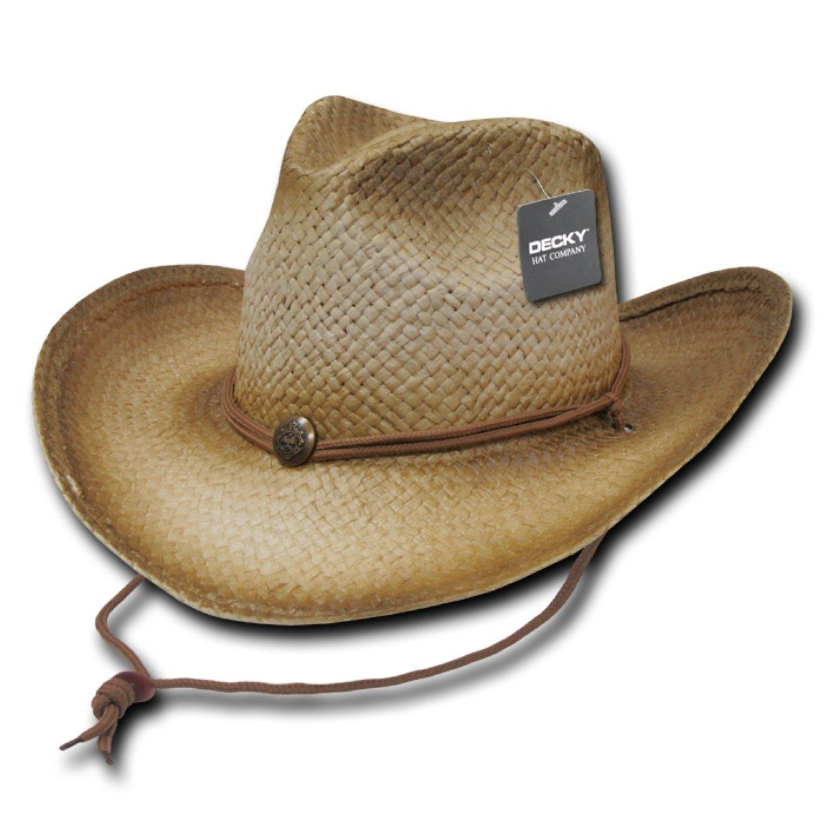 Decky 525-Glazed Paper Straw Cowboy Hat 4340f3b4b80