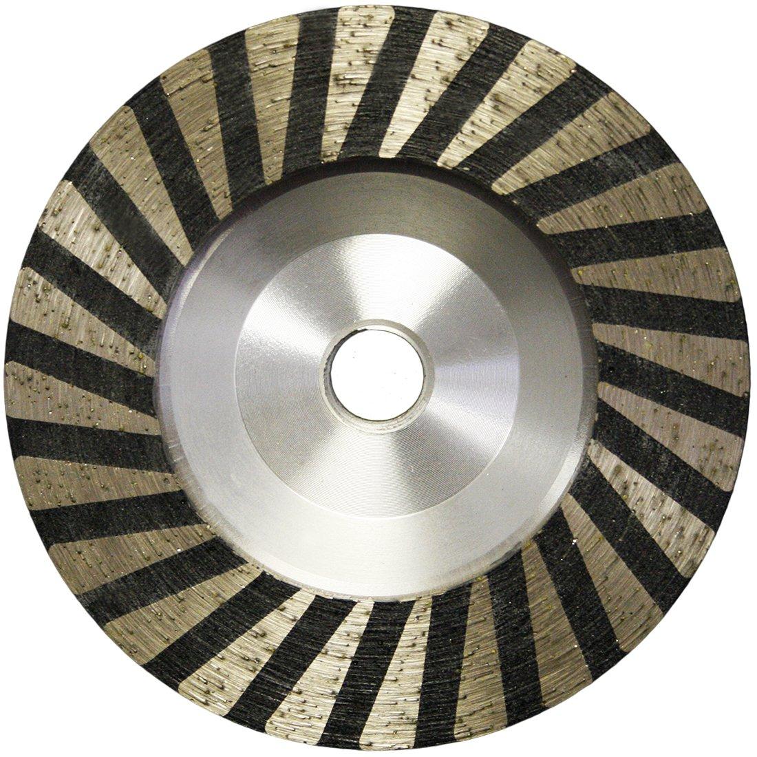 4'' Slayer Resin filled Turbo Cup Wheel Alum Backer -- Coarse