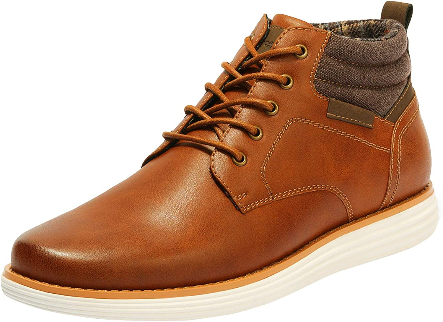 Bruno Marc Men's Mid Top Chukka Sneaker Lace Up Dress Boot