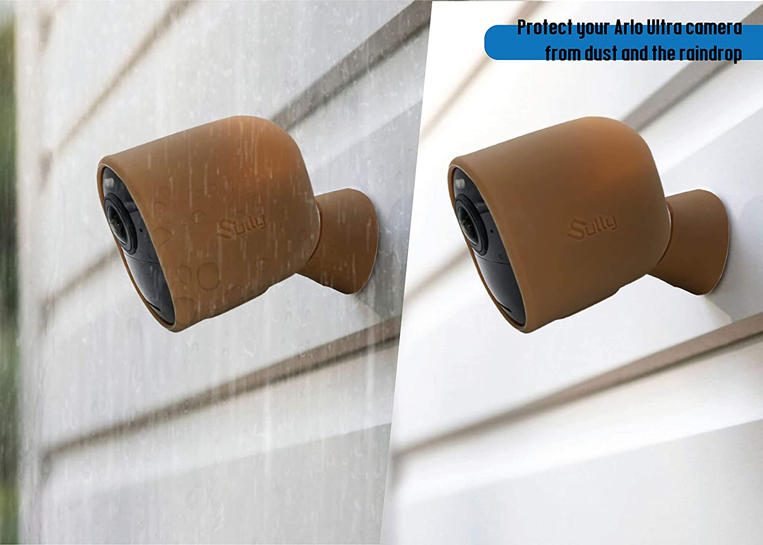 Skins for Arlo Pro3 Cam /& Mount Base by Sully Silicon Sleeves for Arlo Ultra Security Camera Silicone Case for Arlo Ultra 4K /& Arlo Pro 3 Brown 2 pcs - Ultra HD Series Skins w//Mount Cover