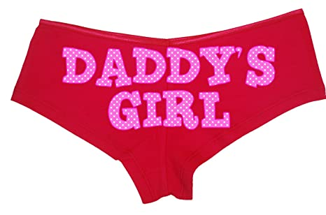 7e1709b7b Knaughty Knickers - Cute Pink Polka Dot Daddy s Girl Boy Short Panties - DDLG  CGL BDSM Baby Girl Boyshort Underwear at Amazon Women s Clothing store