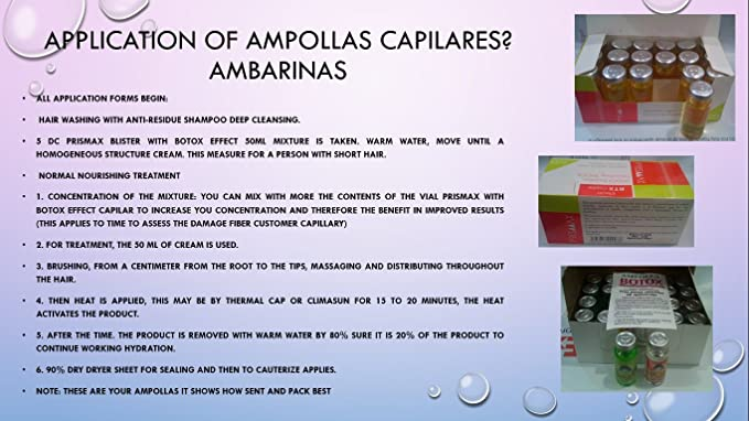 Amazon.com : Ampollas Capilares Ambarina, PRODUCTO ORIGINAL (Caja 24 Unidades de 15cc) : Everything Else
