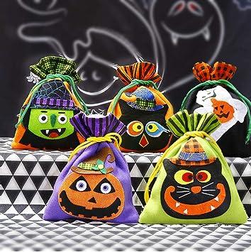 Good Sister 5 Piezas Bolsas de Caramelo de Halloween, Bolso del Truco o de la Invitación Bolsos Portátiles del Regalo Decoración de la Fiesta de ...