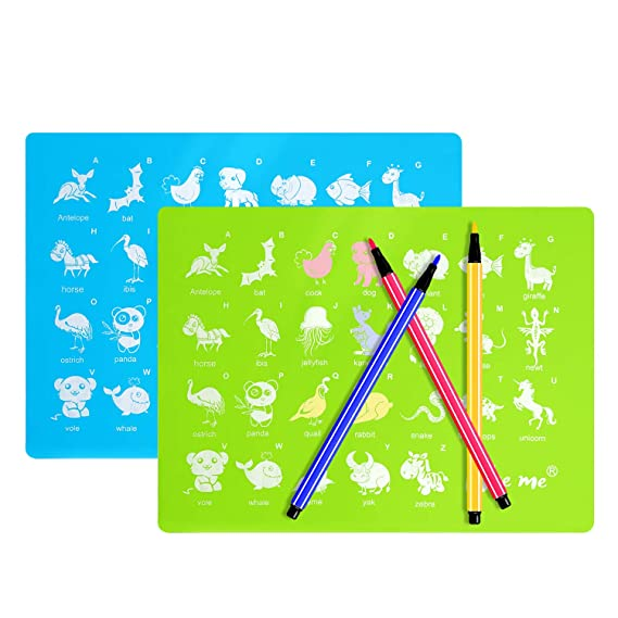 Wee Me Educational Placemats For Toddlers