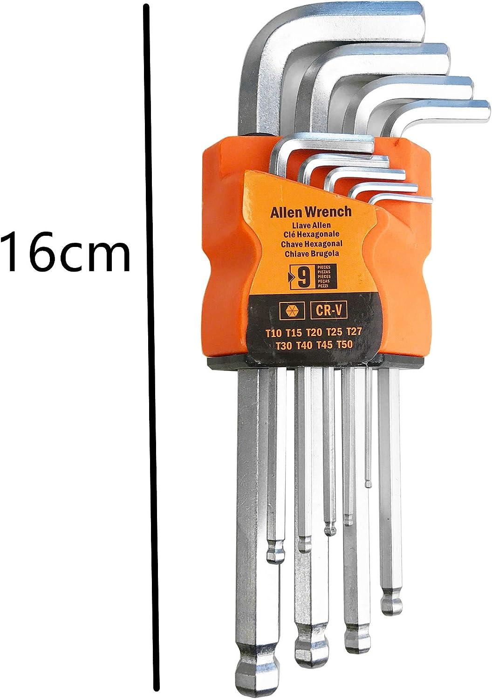5,0 Longue, hexagonales 8,0 3,0 2,5 AURSTORE BASA Lot de 9 Cl/és Allen,Jeu 9 cl/és : 1.5 6,0 en clip plastique 2,0 10,0 mm 4,0