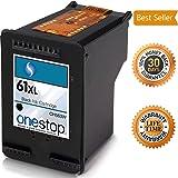 MX Brand HP 61XL Black Inkjet Premium High Yield Ink Cartridge for HP 61 and HP 61XL - CH563WN, CH564WN (Single Pack)