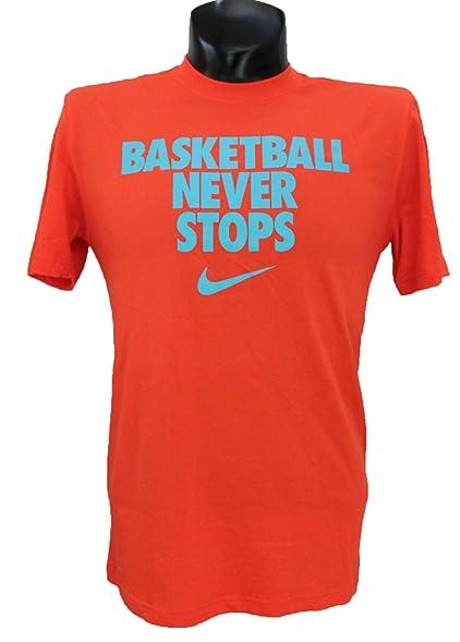 Amazon Com Nike Men S Basketball Never Stops Dri Fit T Shirt X