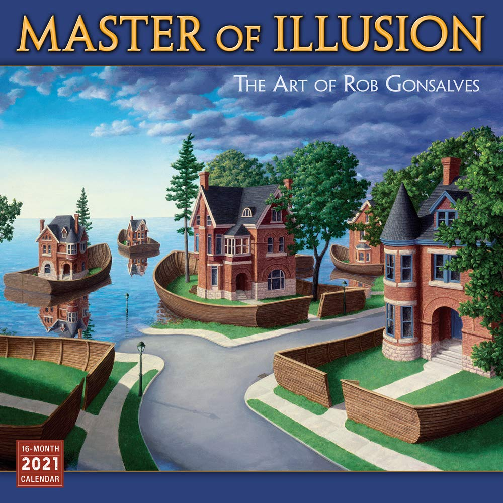 Image for 2021 Master of Illusion The Art of Rob Gonsalves 16-Month Wall Calendar