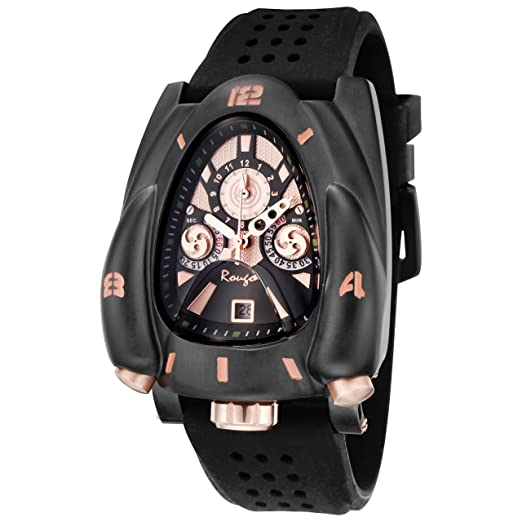 Rougois Galaxy Rocket Watch Black & Rose Gold