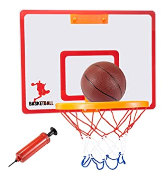 Wall Mount / Over The Door / Office Cubicle Mini Basketball Hoop Bracket  With