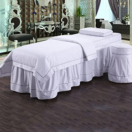 Beaten Simple Cotton Beauty Bedspread Cotton Massage Bedlinen Beauty Salon Spa  Bed Sheets G 80x190cm